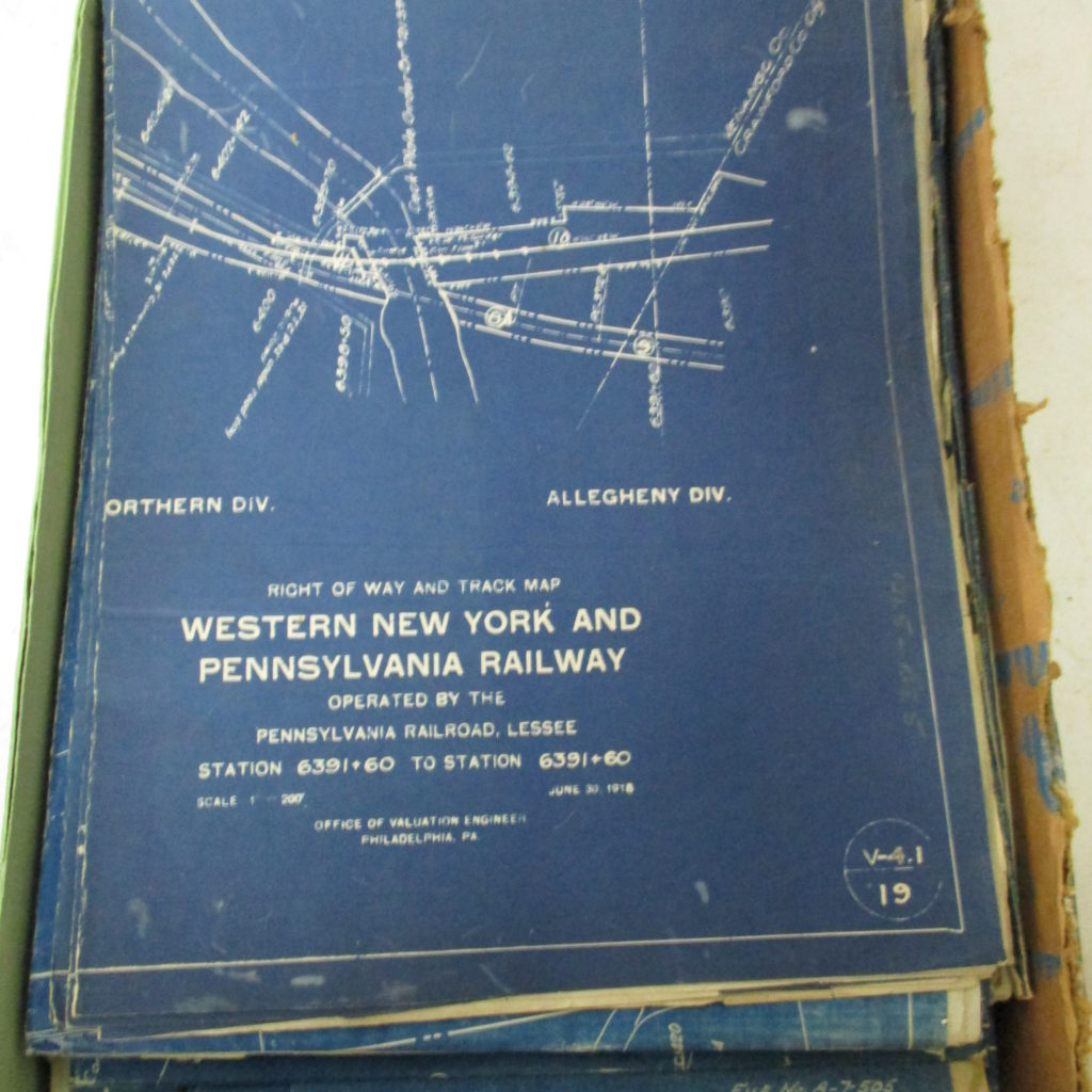 Lot 225: (31) Railroad Blueprints And Maps