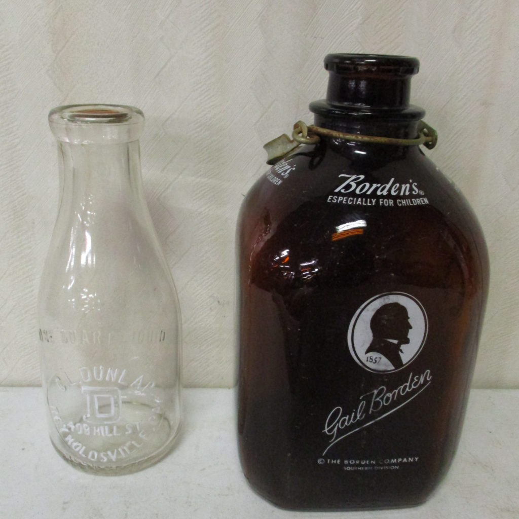 Lot 234: (2) Milk Bottles - Borden And Dunlap (Reynoldsville)