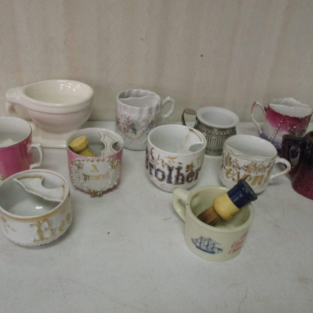 Lot 237: (11) Shaving Mugs
