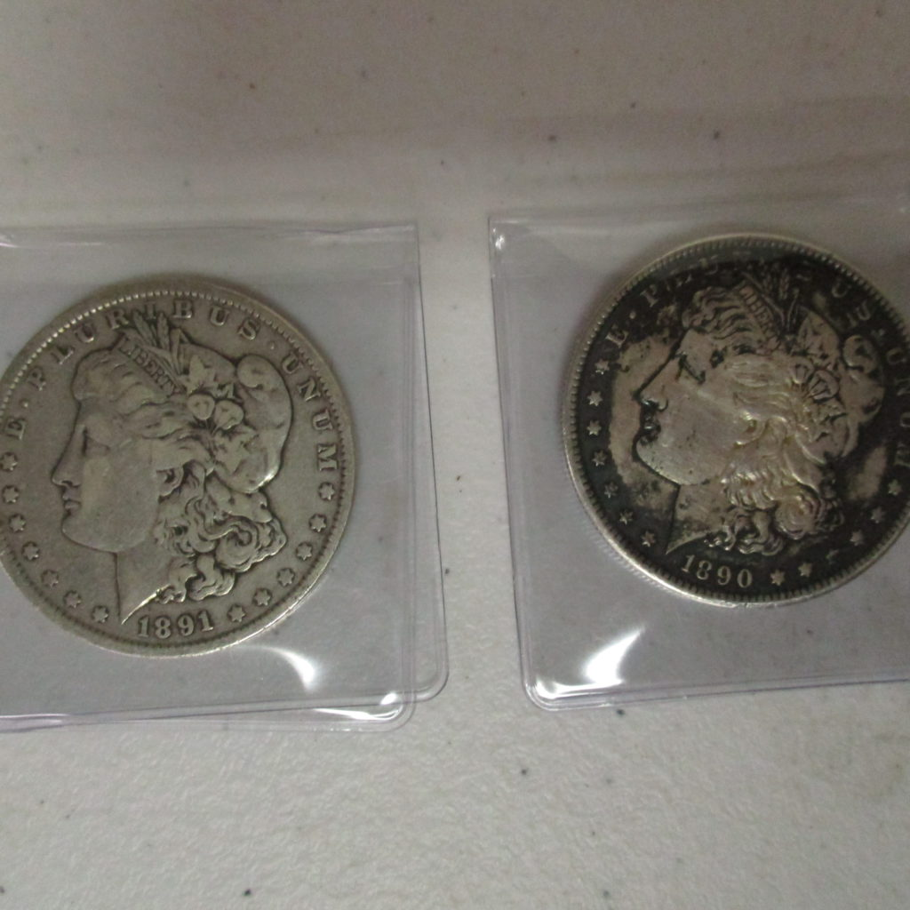Lot 24: 1890 And 1891 Morgans (by The Piece, Take 2)
