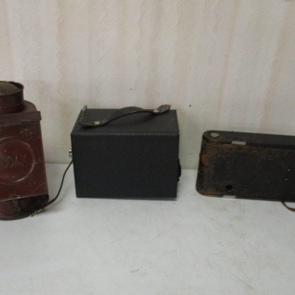 Lot 245: Postcard Camera, Kodak Camera And Kodak Film Developer