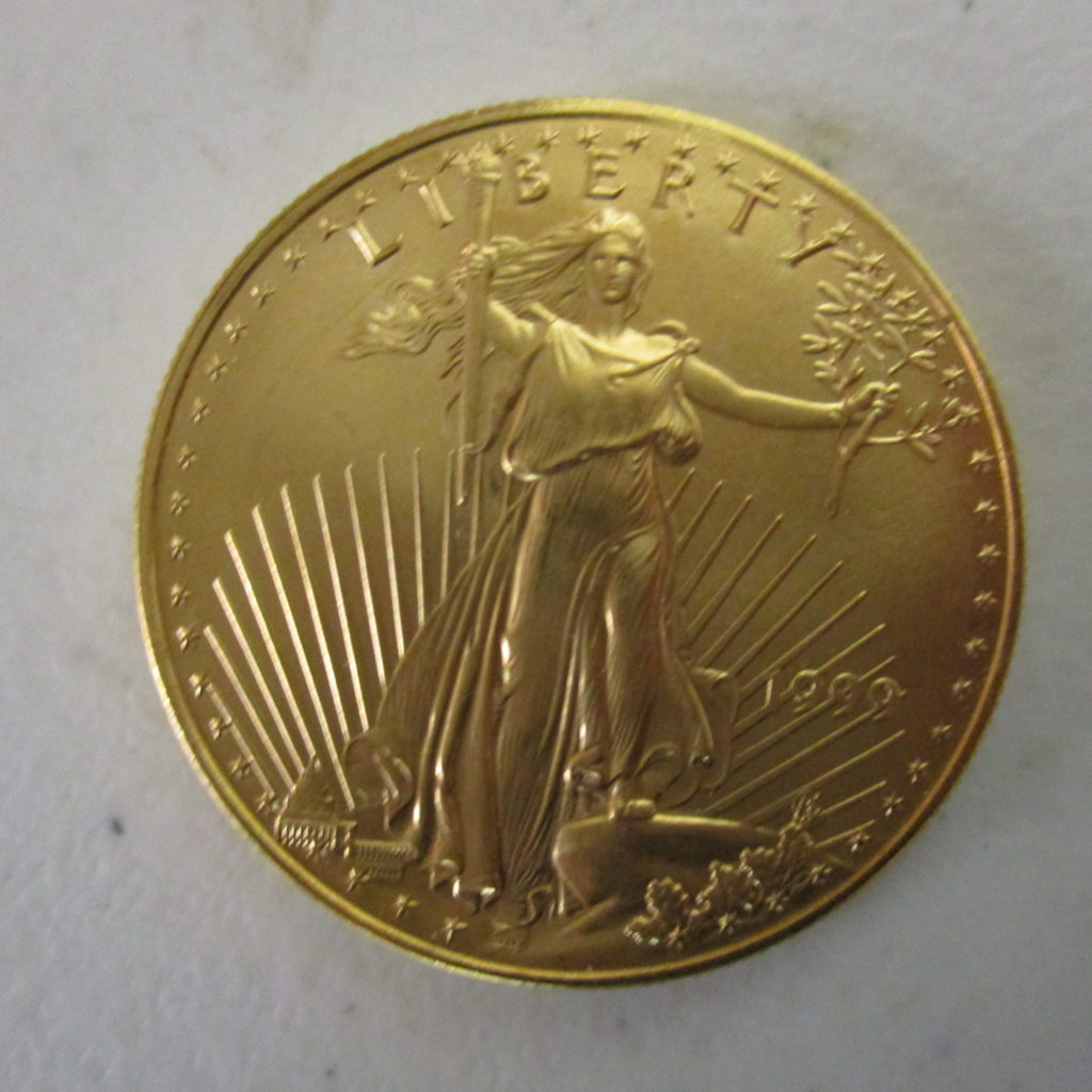 Lot 25: 1999 $50 1oz Gold Coin
