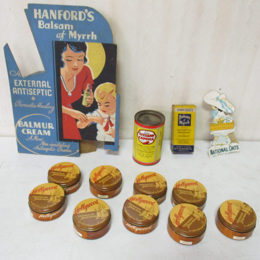 Lot 251: Hollywood Polish, Cardboard Ad & Misc