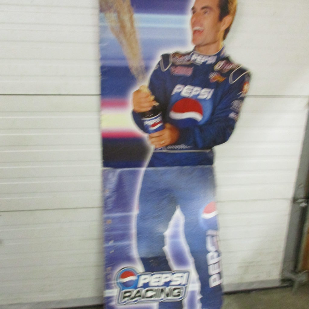 Lot 258: Pepsi Cardboard Display - Gordon Evernham - Nascar