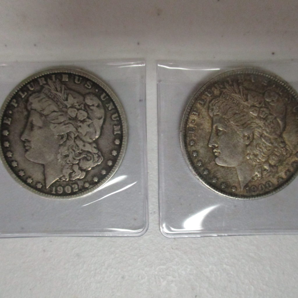 Lot 3: 1900 And 1902 Morgan Dollars        (by The Piece, Take 2)