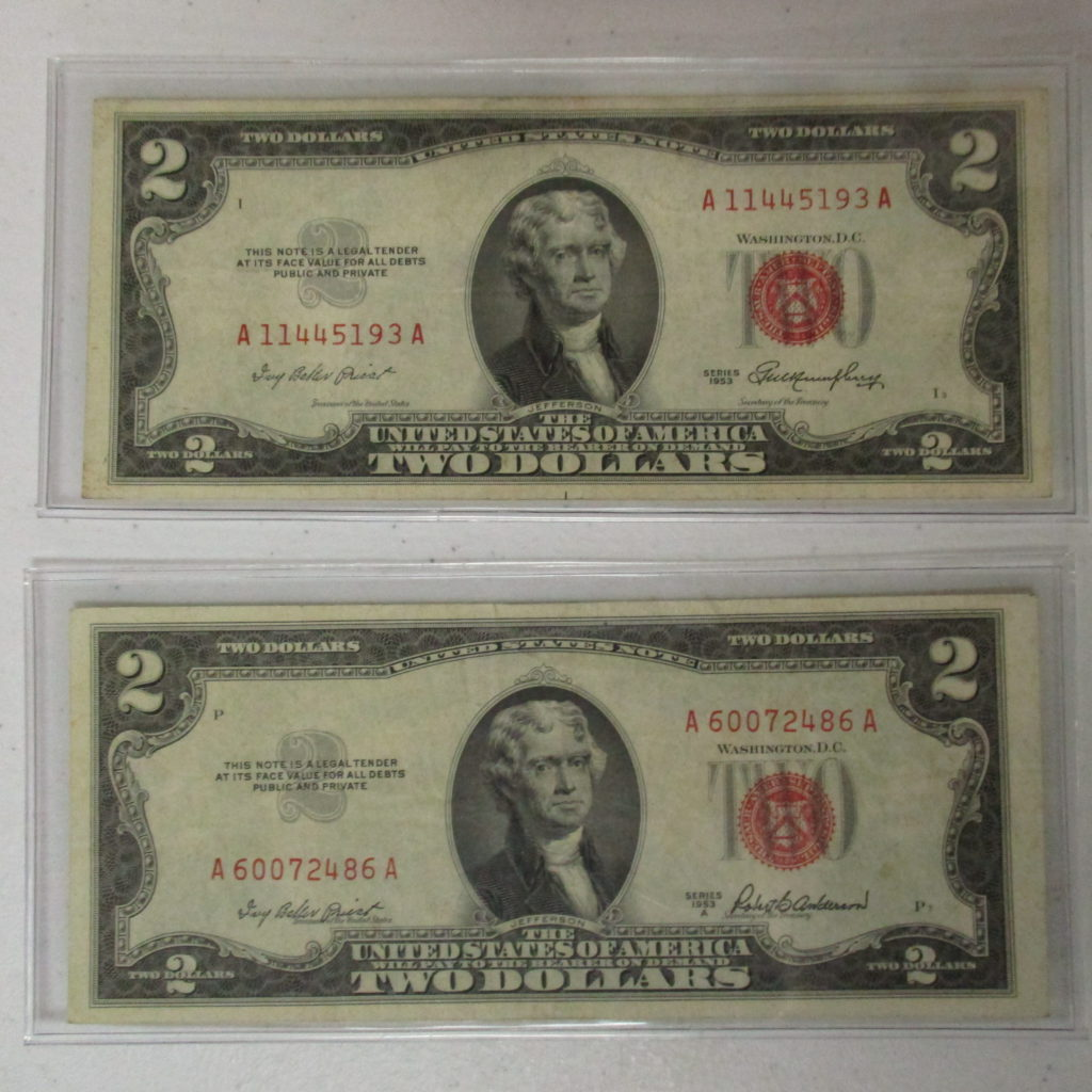 Lot 30: (2) $2 Red Seal Notes