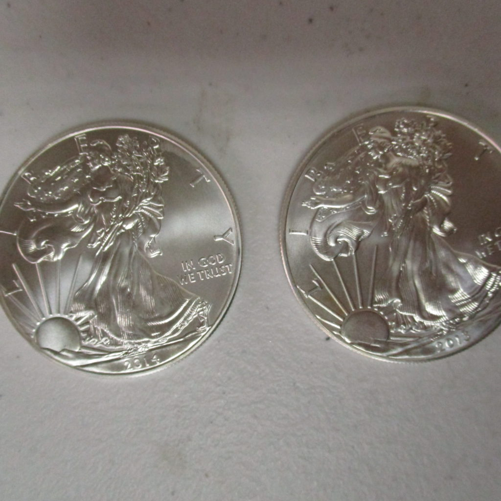 Lot 37: 2013 And 2014 Silver Eagles (by The Piece, Take 2)