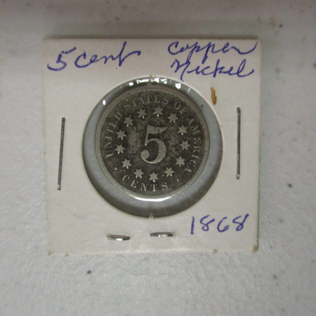 Lot 38: 1968 5¢ Shield Nickel