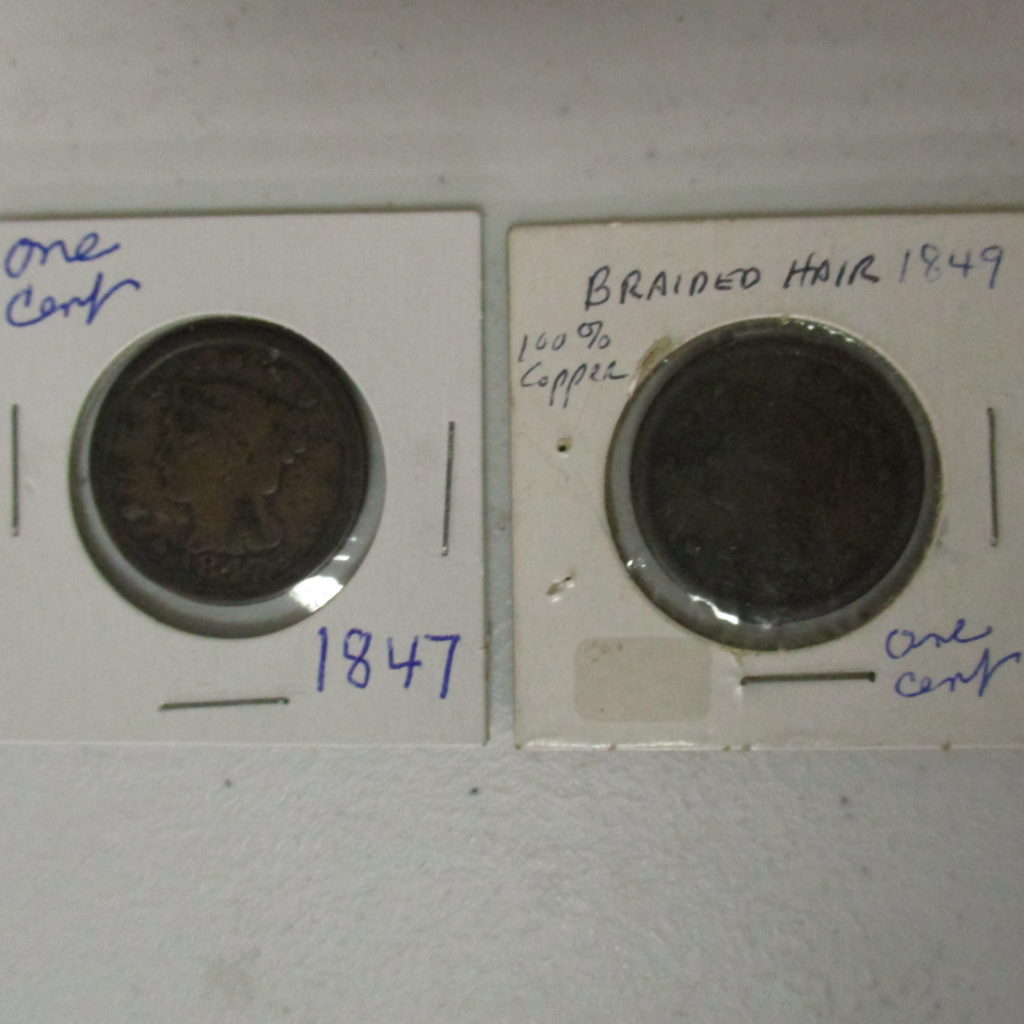 Lot 39: (2) Large Cents, 1848 And 1849 (by The Piece, Take 2)