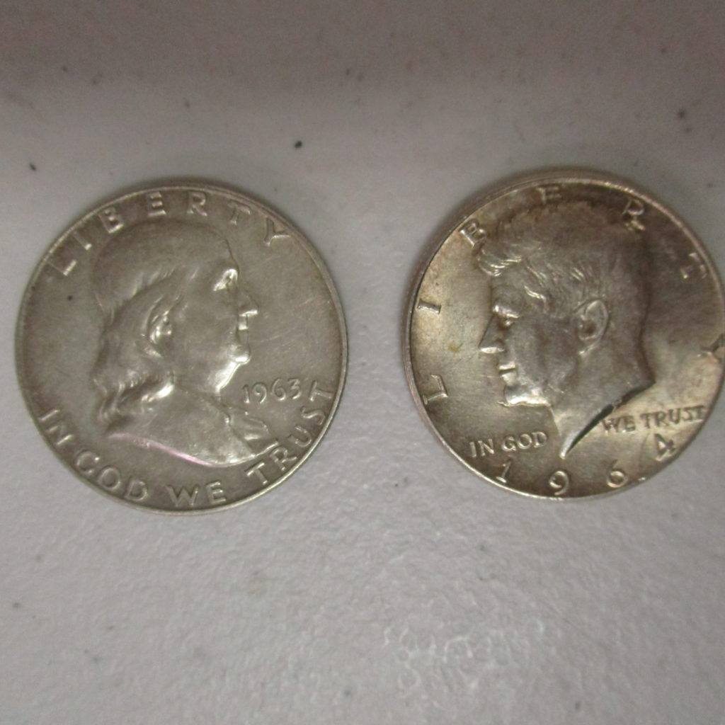 Lot 40: Franklin Half And Kennedy Half (by The Piece, Take 2)