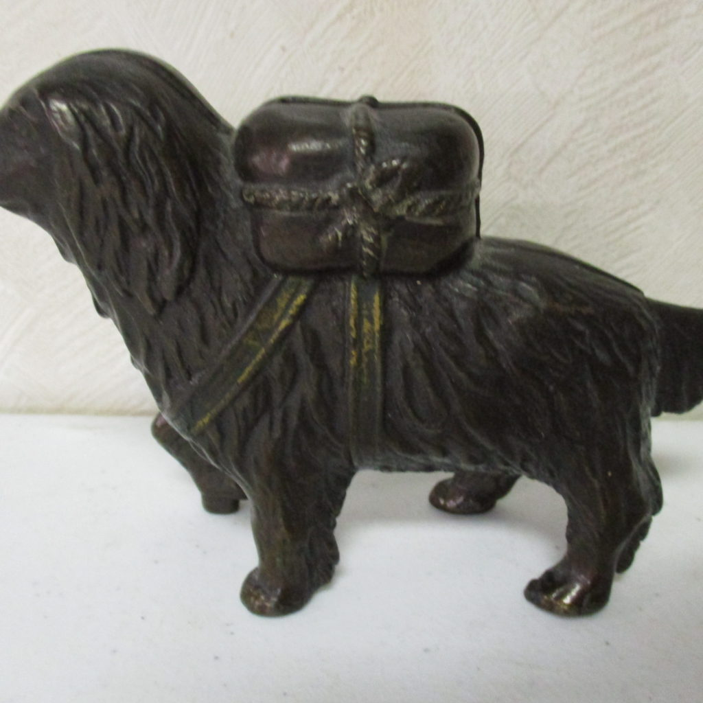 Lot 45: Cast Iron Dog Bank