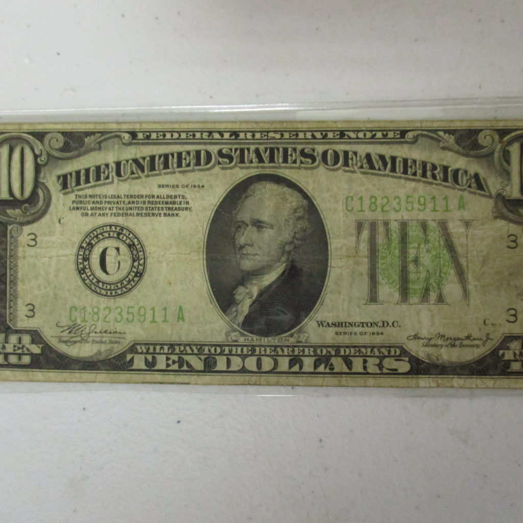 Lot 7: 1934 $10 Reserve Note