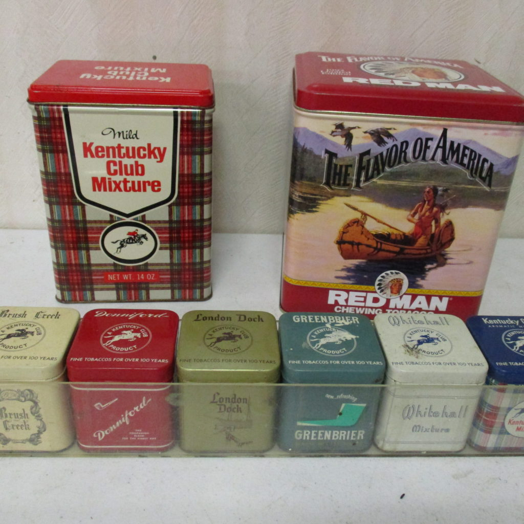 Lot 85: Redman, Kentucky Club And (6) Misc Tobacco Tins