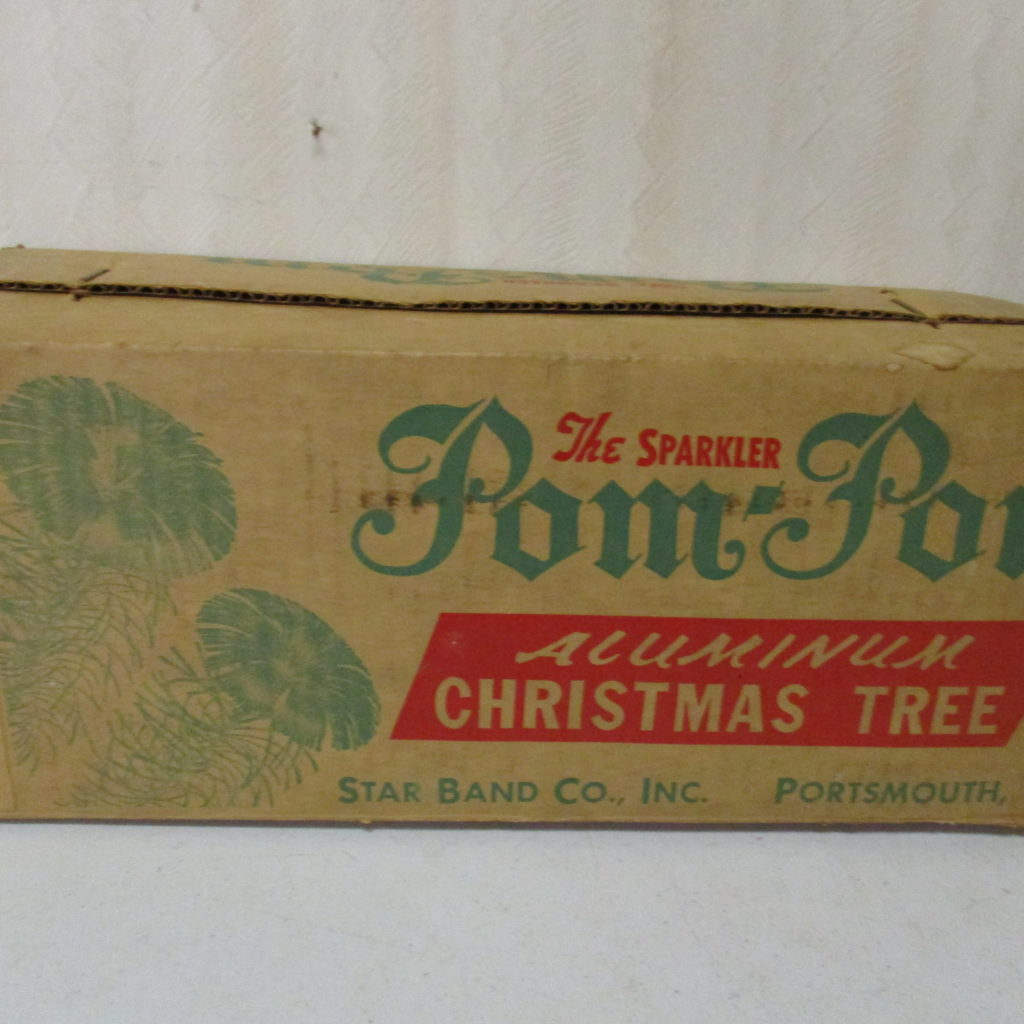 Lot 90: 4' PomPom Aluminum Christmas Tree