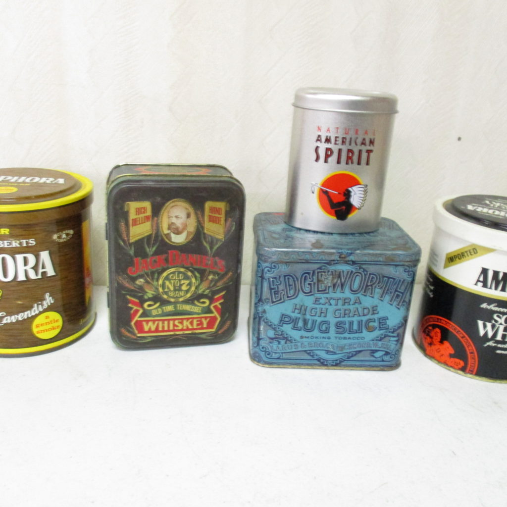 Lot 93: (5) Assorted Tobacco Tins