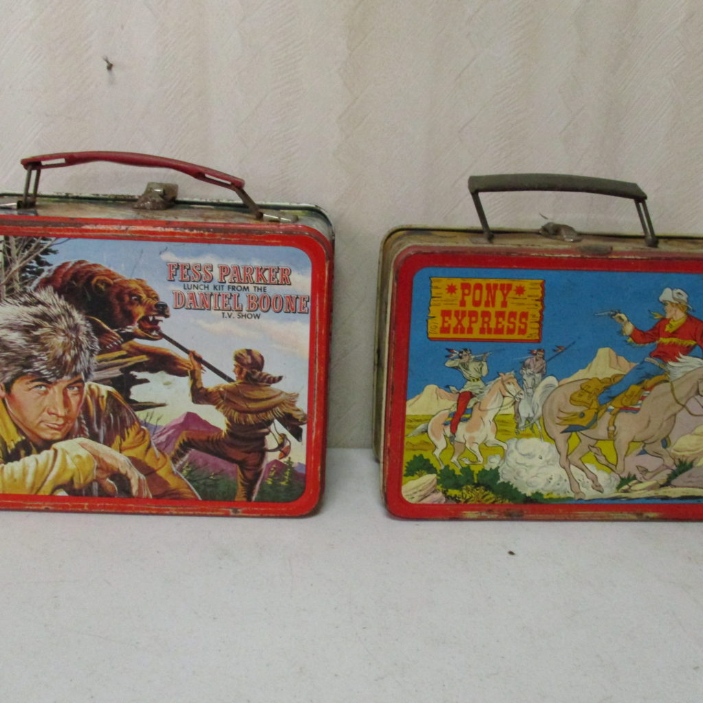Lot 99: Daniel Boone And Pony Express Lunch Boxes