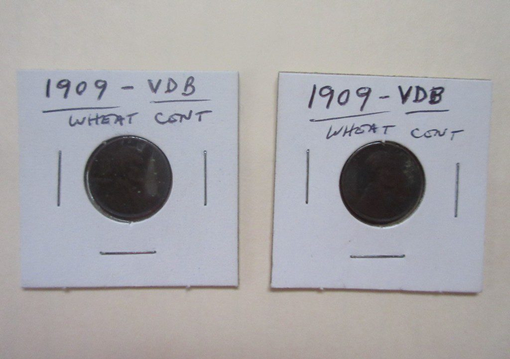 1. 2 – 1909 VDB Wheat Cents