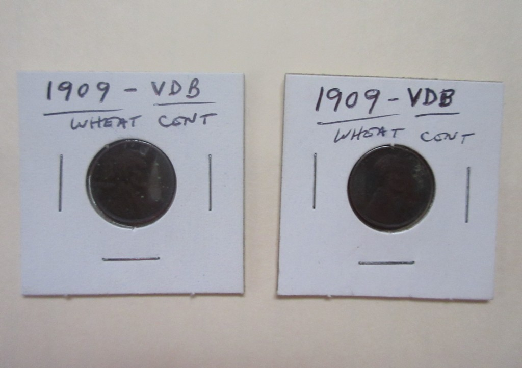 1. 2 – 1909 VDB Wheat Cents