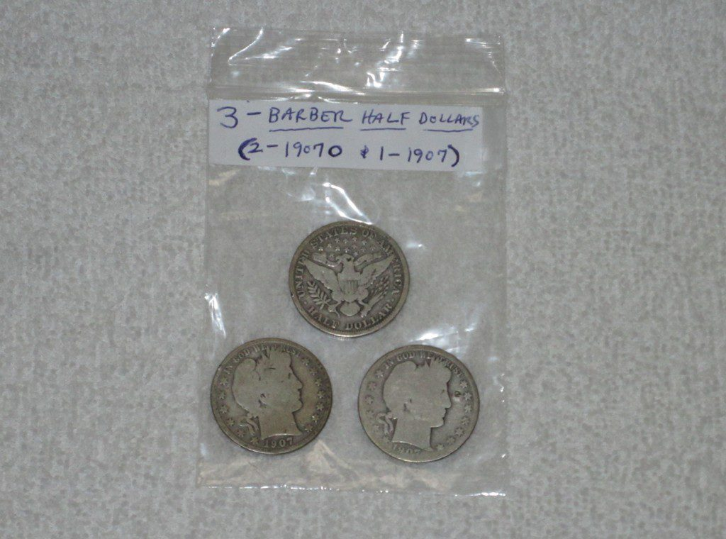 2. 3 – Barber Half Dollars