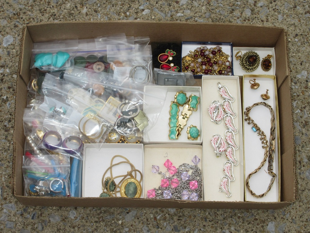 Over 35 Costume & Designer Sets & Bags Of Jewelry & Earrings