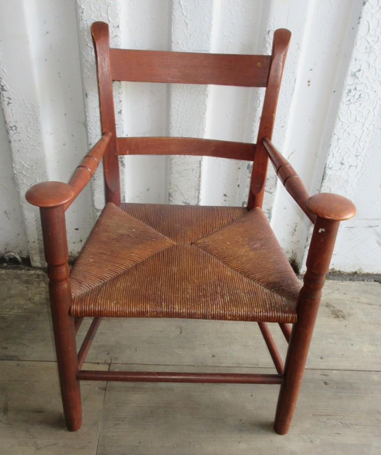 Ca 1930 Woven Seat Chair